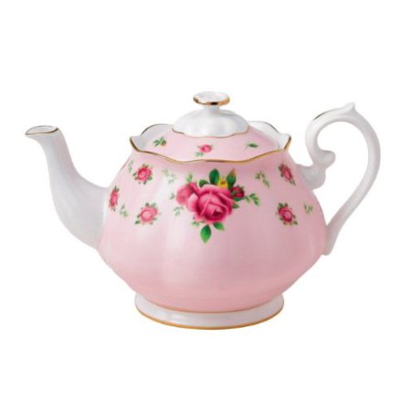 Royal Albert New Country Roses Formal Vintage Teapot, White/Pink ()