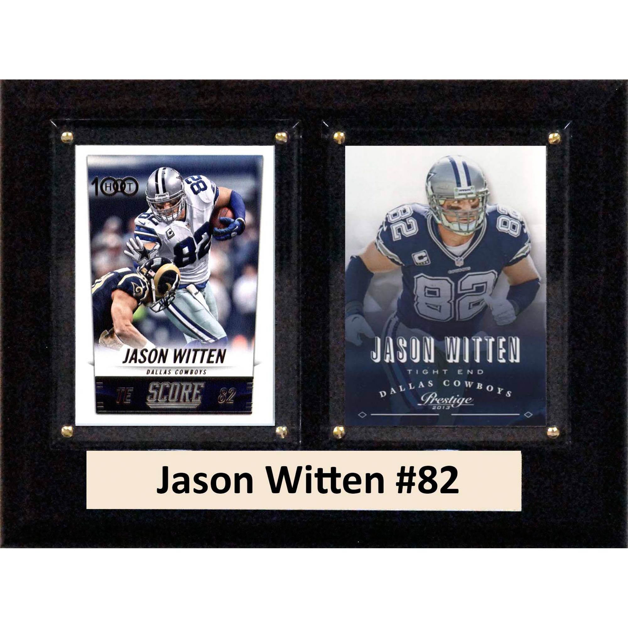 C&I Collectables NFL 6x8 Jason Witten Dallas Cowboys 2-Card Plaque