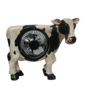 11 Inch Cow Statuary With Fan