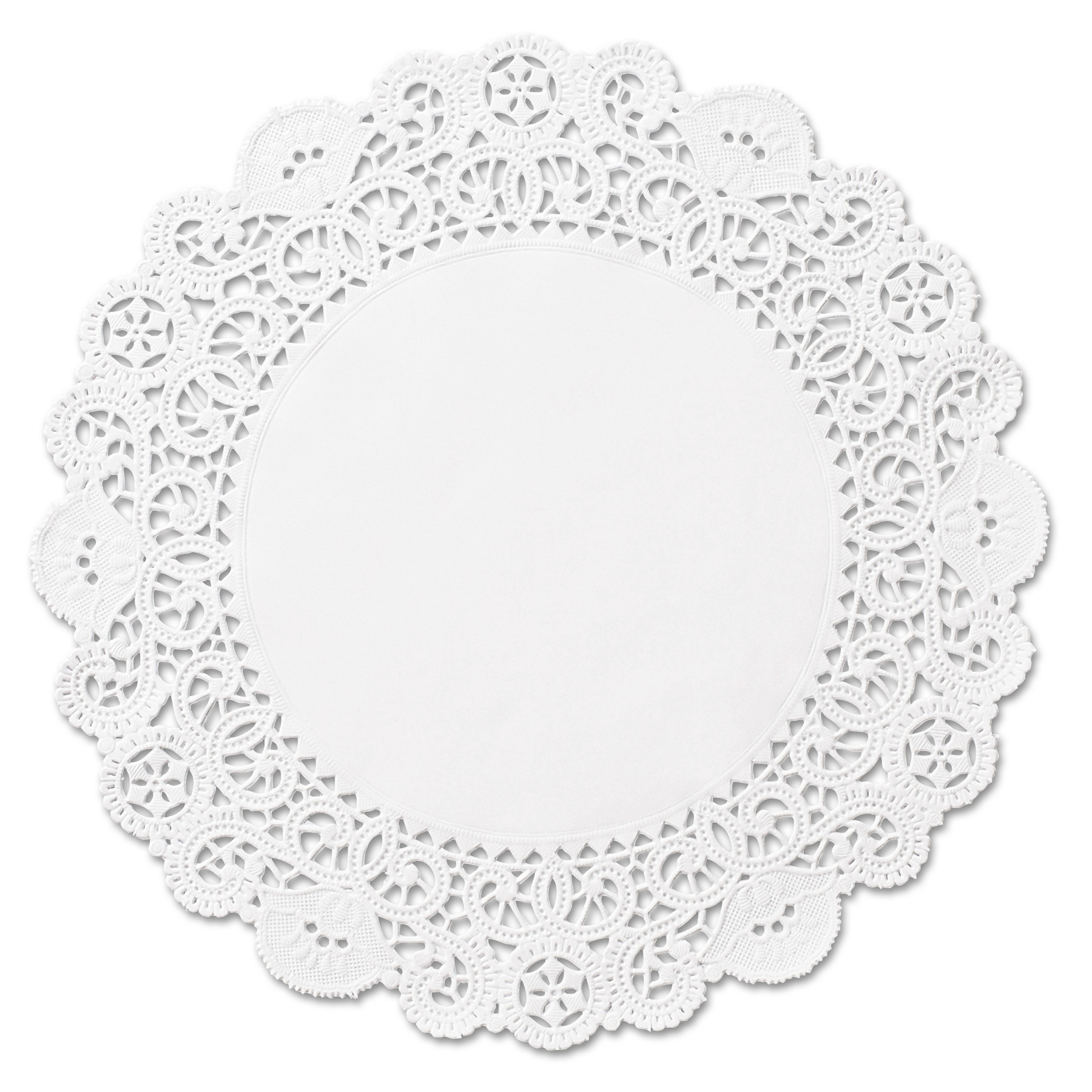 "Hoffmaster Brooklace Round 4"" Lace Doilies, White, 2000 count"