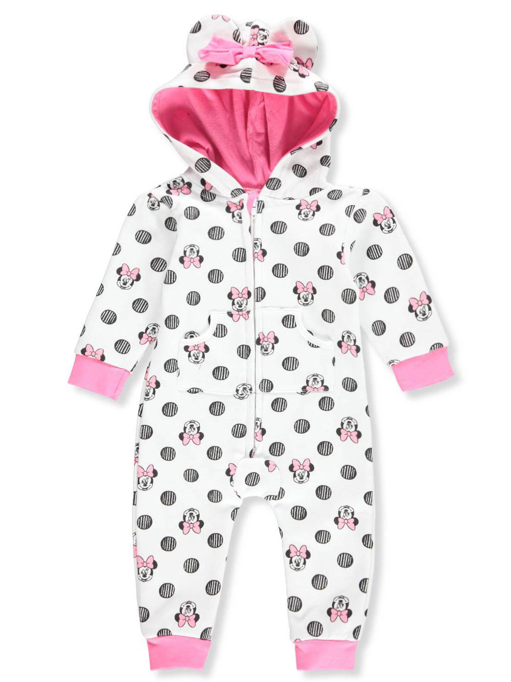 Disney Minnie Mouse Baby Girls' Hooded Pram Suit