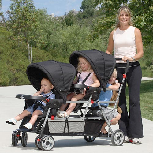 Joovy - Big Caboose Stand-On Triple Stroller, Black - Walmart.com
