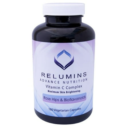 Relumins Advance Vitamin C - MAX Skin Whitening Complex With Rose Hips & Bioflavinoids - 180 Capsules (90 Day
