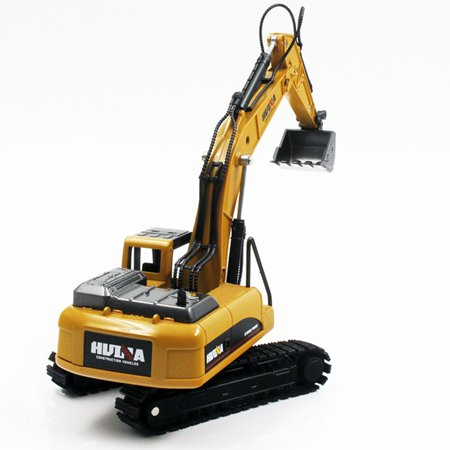 HC-TOP HUINA TOYS NO.1710 1/50 Alloy Excavator Truck Car Engineering Model Kids Toys - image 1 of 7