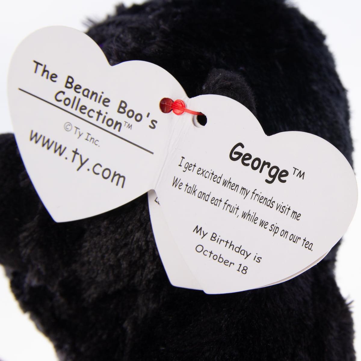 George Gorilla Beanie Boo Small 6 inch - Stuffed Animal by Ty (37222) -  Walmart.com dfe671551b8