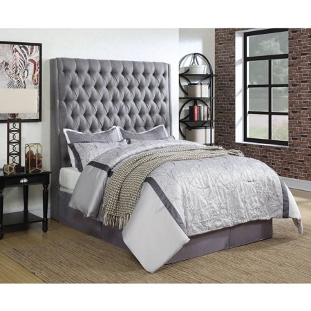 Coaster Company Camille Upholstered California King Headboard, Grey Fabric