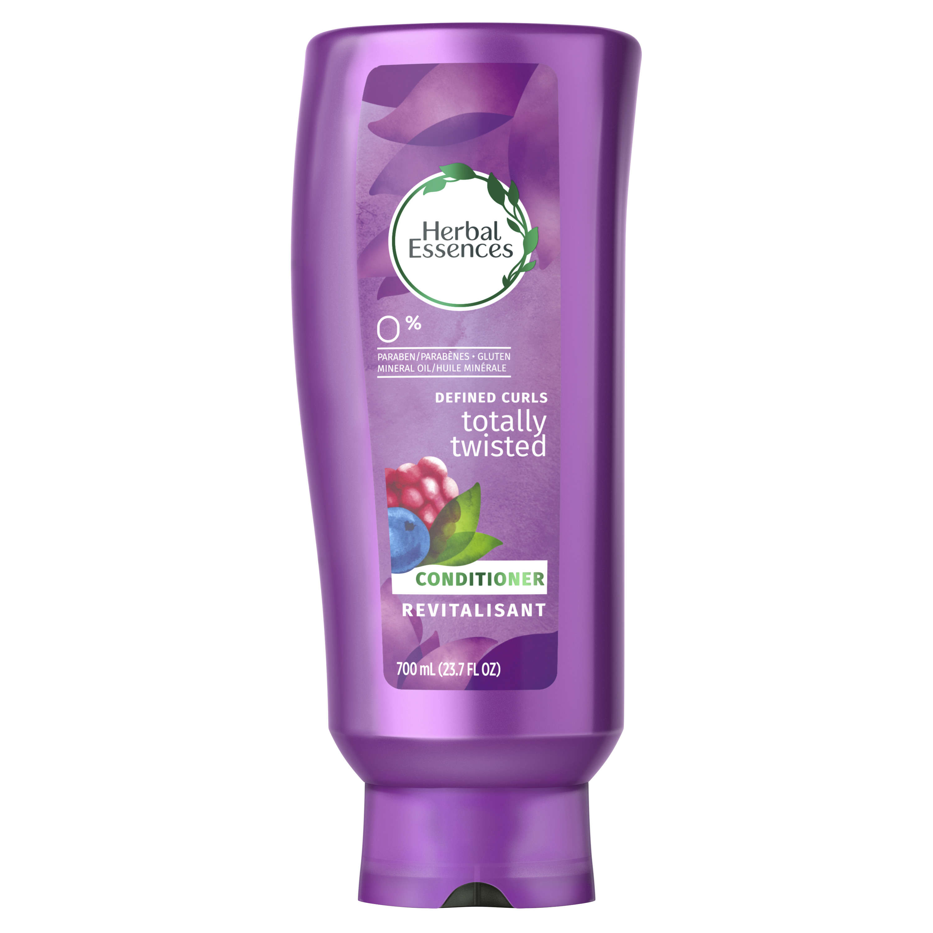 Herbal Essences Totally Twisted Curly Hair Conditioner with Wild Berry Essences, 23.7 fl oz