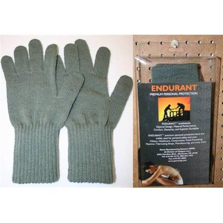 - Gems Manufacturing Systems 924030402 Cold Weather Seamless Gloves, Grey - Small