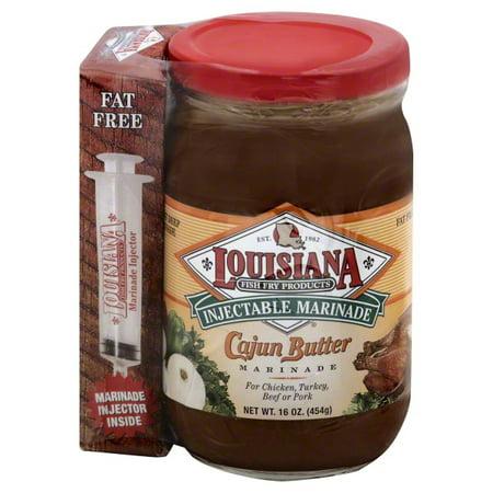 Louisiana Fish Fry Injectable Cajun Butter Marinade, 16 oz Cajun Garlic Butter