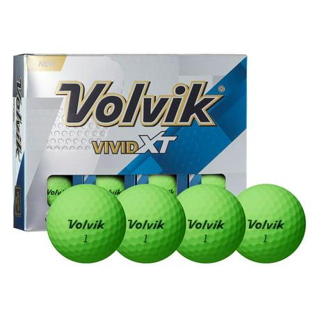 Volvik Vivid Golf Balls, Green, 12 Pack - Golf Glow In The Dark
