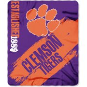 "NCAA Clemson Tigers 50"" x 60"" Fleece Throw"