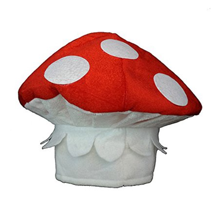 Red & White Spotted Mushroom Shroom Novelty Hat