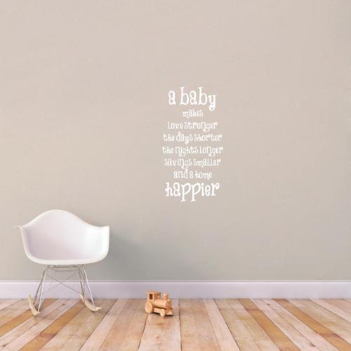 Sweetums A Baby Makes A Home Happier Wall Decals
