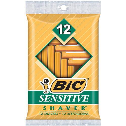 BIC Sensitive Shaver Disposable Razor, Men, 12-Count