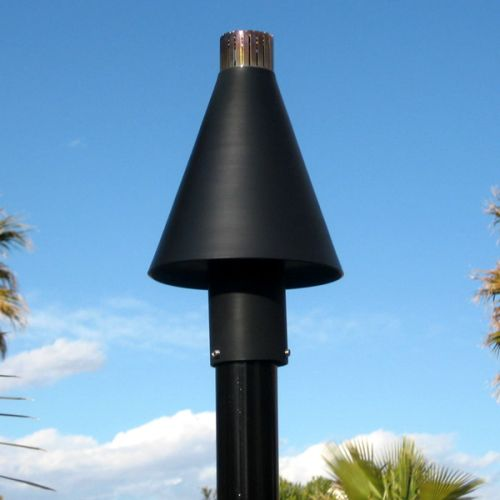 Black Cone Series Automated Tiki Torch with Aluminum Pole LP by