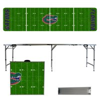 Florida Gators 8' Football Field Portable Folding Tailgate Table