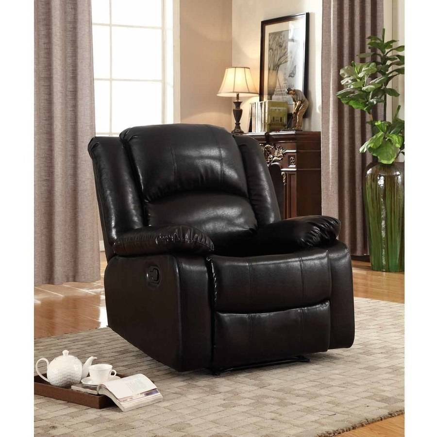 Nathaniel Home Samantha Bonded Leather Glider Recliner, Multiple Colors by