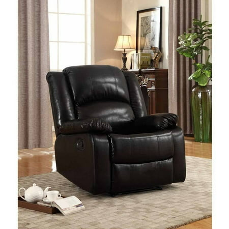 - Leonel Signature Bonded Leather Glider Recliner, Multiple Colors