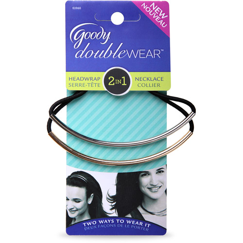 Goody DoubleWear Headwraps Headband/Necklace, 2pk