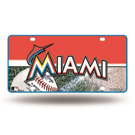 Marlin Tag - Rico MLB Miami Marlins Auto Metal Tag Car License Plate MTG