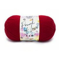 Lion Brand Yarn Pound of Love White 1 Pound Single Skein Baby Medium Acrylic White Yarn 3 Pack