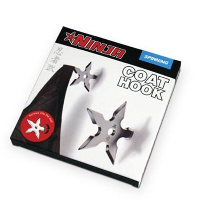 Ninja Coat Hook Fake Throwing Star Fun Silver Adult Movie Game Men