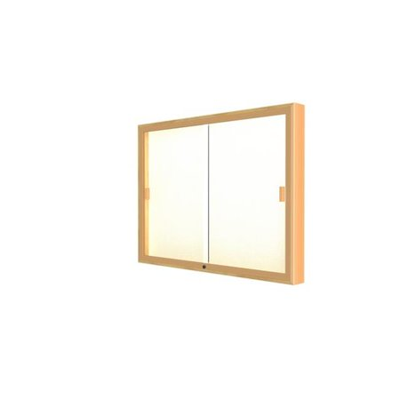 Waddell 88-3648PB-GD Legacy 48 x 36 x 4 in. Gold Trim Wall Display Case, Plaque Back - Autumn Oak