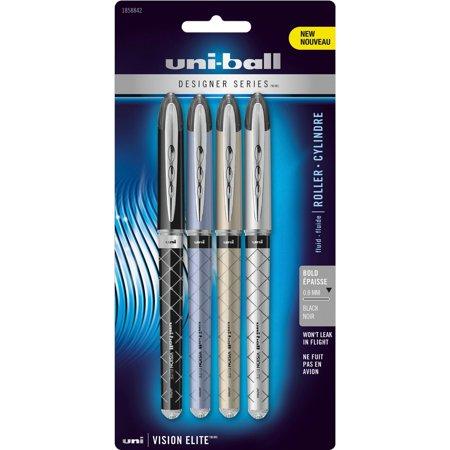 Uni-Ball, SAN1858842, Vision Elite Designer Rollerball Pens, 4 / Pack