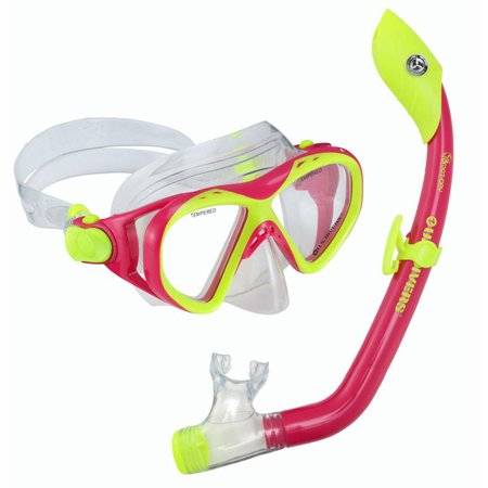 Buzz Island Snorkel Set, Junior Pink