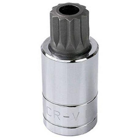 Capri Tools 30055 XZN 16mm Triple Square Bit Socket with Tamper Proof, 1/2
