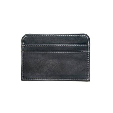 Piel Leather Slim Business Card Case - Black