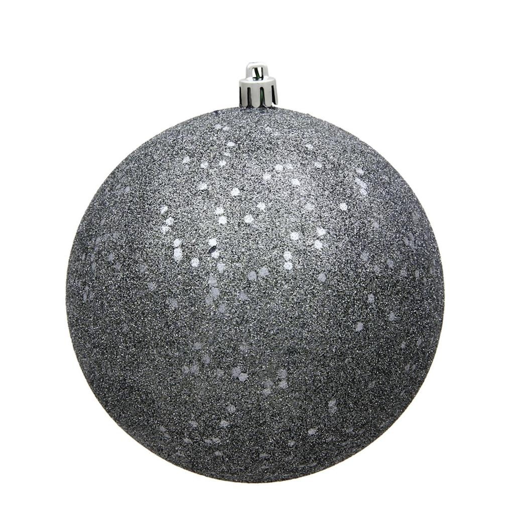 "Vickerman 488133 - 10"" Pewter Sequin Ball Christmas Christmas Tree Ornament (N592587DQ)"