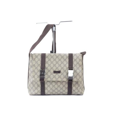 Coated Buckle Bag (Supreme Monogram Buckle Messenger 868796 Brown Coated Canvas Cross Body Bag)