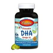 Carlson For Kids DHA Chewable, Bursting Orange Flavor, 120ct