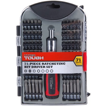 hyper tough 71 piece ratcheting bit driver set. Black Bedroom Furniture Sets. Home Design Ideas