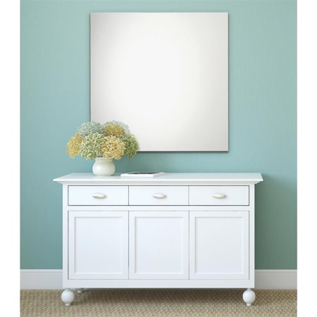 Erias Home Designs Frameless Polished Edge Wall Mirror Walmart Com