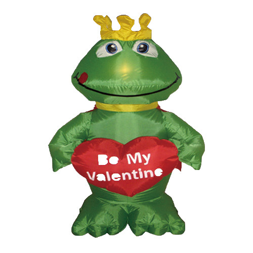 BZB Goods Valentine's Day Inflatable Frog with Heart Decoration