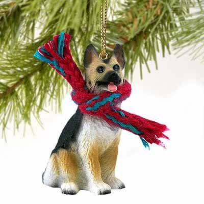Conversation Concepts German Shepherd Miniature Dog Ornament - Tan & Black