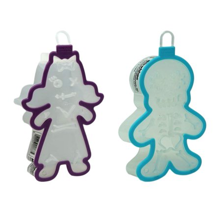Halloween Cookie Cutters Zombie Girl and Skeleton Set
