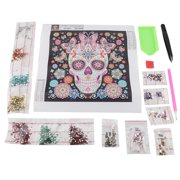 LYUMO Diamond Painting, Diamond Painting Kit,DIY Special Shape Embroidery Skull Crystal Diamond Painting Kit Home Decor Crafts