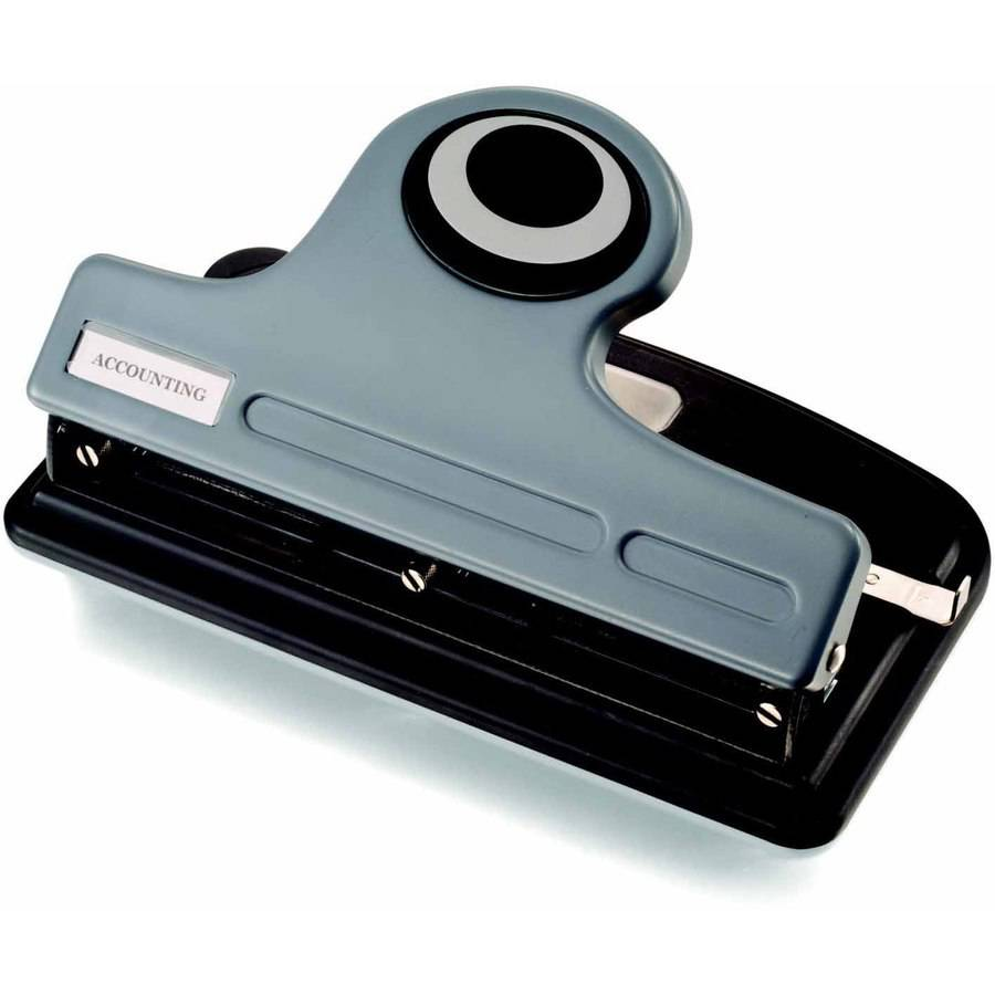 Officemate Eco Plastic 2-3 Hole Heavy-Duty Punch with Paper Guide and Easy Access Chip Tray, 30-Sheet Capacity