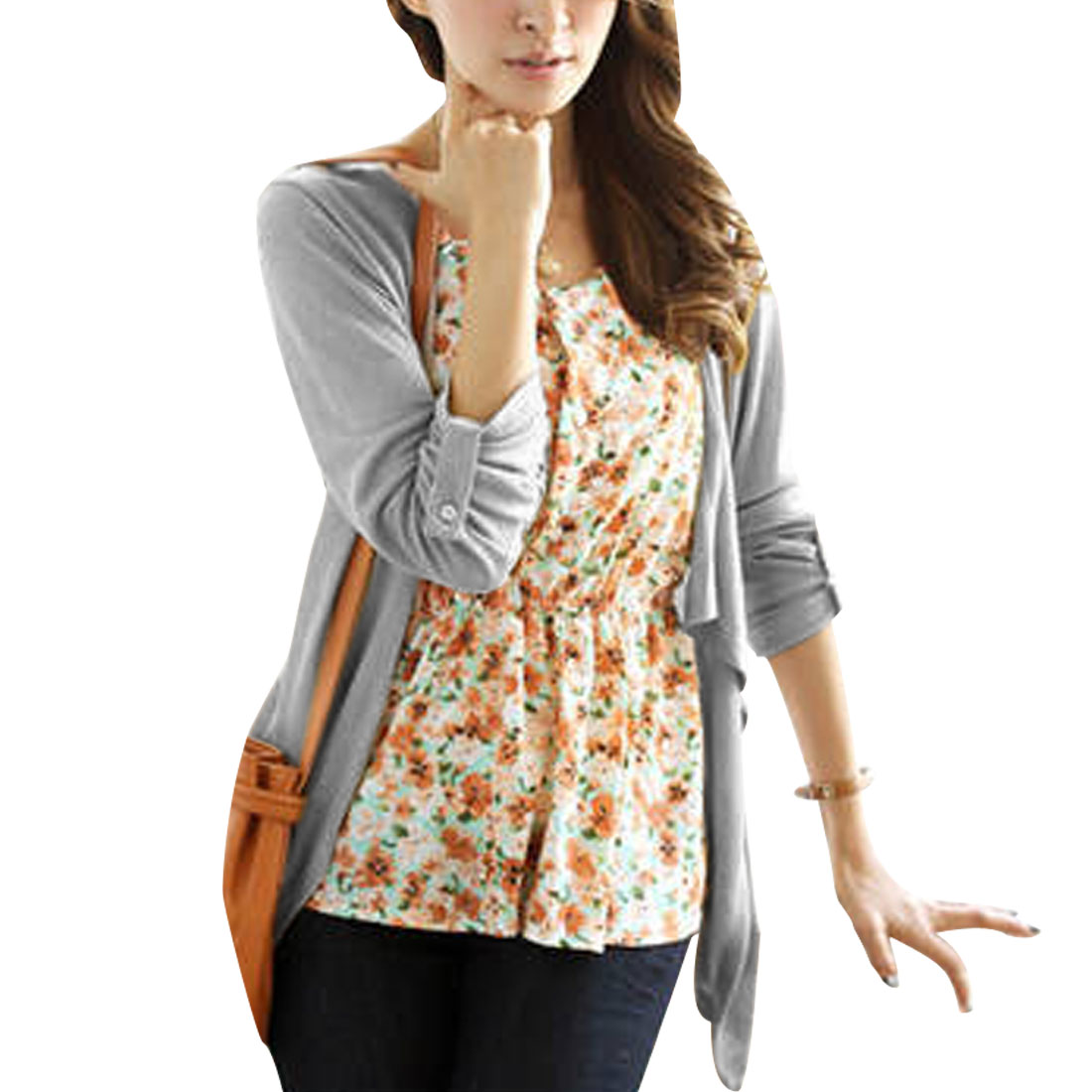 Women's Long Sleeves Scoop Neck Casual Pullover Blouse (Size XS / 2)