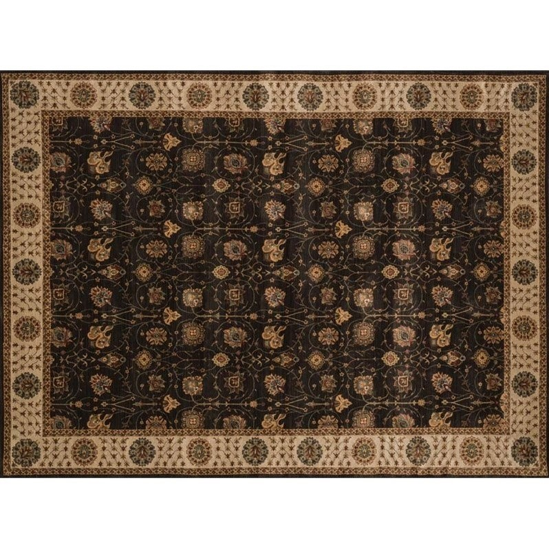 Loloi Stanley 12' x 15' Power Loomed Rug in Espresso and Beige