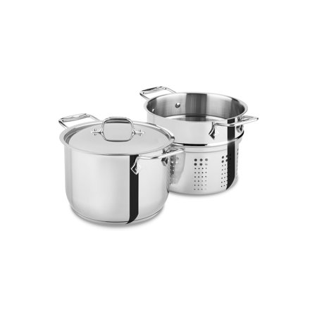 All-Clad Stainless Steel 6 qt. Pasta Pot w/Insert (E414S664) (All Clad Pasta Pot)