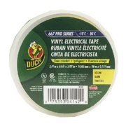 Duck 04142 0.75 in. x 66 ft. Yellow Vinyl Electrical Tape