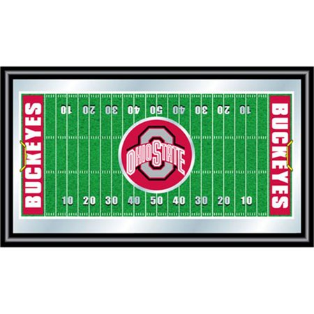 Poker LRG1500FF-OSU 15; x 26; Ohio State University Framed Football Field Mirror