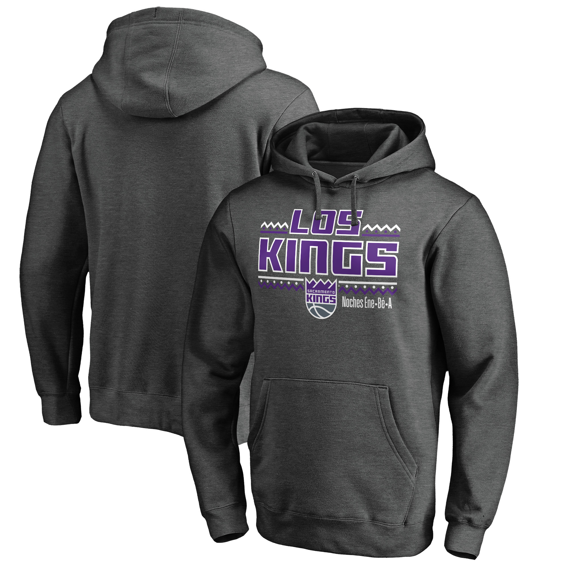 Sacramento Kings Fanatics Branded Noches Ene-Be-A Pullover Hoodie - Heather Gray