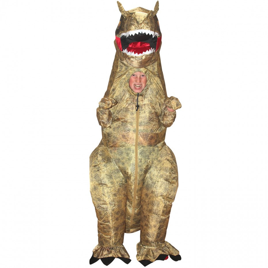 T-Rex Inflatable Boy's Child Halloween Costume, One Size
