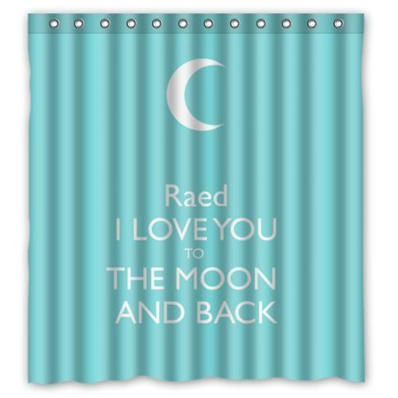 EREHome Saying Quotes i Love You To The Moon And Back Shower Curtain Polyester Fabric Bathroom Decorative Curtain Size 66x72 Inches - image 1 de 1