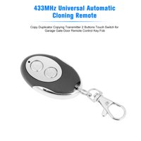 433MHz Universal Automatic Cloning Remote Control Copy Duplicator Copying Transmitter 2 Buttons Touch Switch for Garage Gate Door Remote Control Key Fob